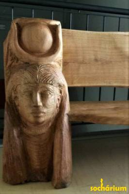 Bench with Hathor